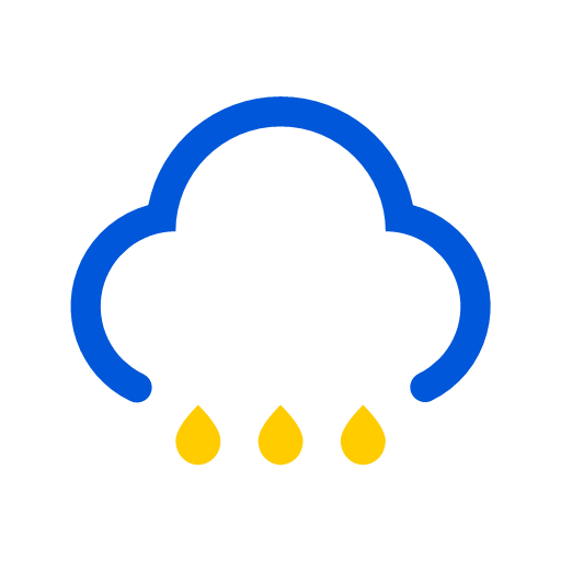 Weather - moderate rain to heavy rain Icon