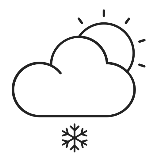 Weather - snow to clear Icon
