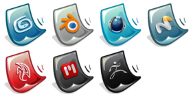 3D Software Icons