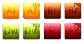adobe cs3 creative suite icons collection adobe cs3 creative suite