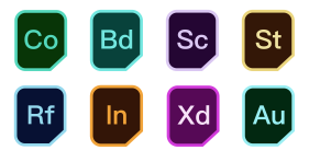 Adobe family bucket Icons