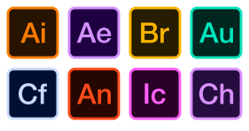 Adobe multiple software icons Icons