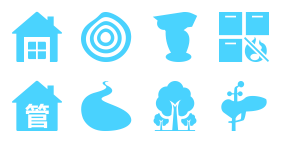 Intelligent forestry Icons