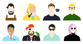 A group of characters Icons
