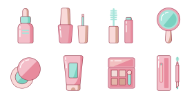 Beauty line face combination Icons