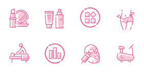 Beauty website pink Icon Icons