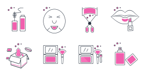 Cosmetics department Icons