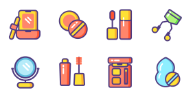 New in spring - make up color icon Icons