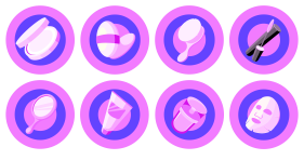 New year - Purple Icons