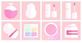 Spring breeze gentle beauty series Icons