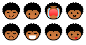 Black Power Emoticons Icons