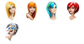 Browser Girl Icons