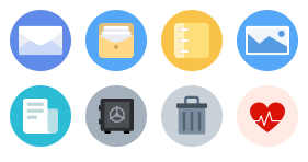 Circular multi color function icon Icons