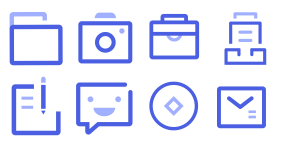 Conduct financial transactions Icons