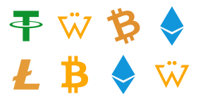 Digital currency Icons