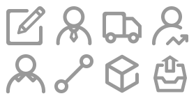 Urban intelligent logistics Icon Icons