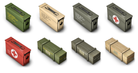 Cargo Boxes Icons
