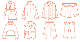 Clothing linear Icon Icons