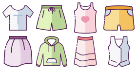 Costume layout Icons