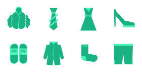 New clothes in spring Icons