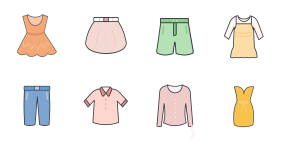 New clothing series in spring and summer Icons