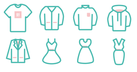 New - new clothing series in spring Icons