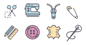 Sewing housework Icon Icons