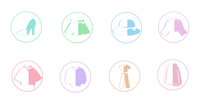 Spring clothing Icons