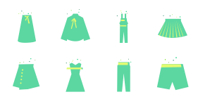 Spring dress Icons