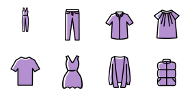 Spring new - clothing Icons