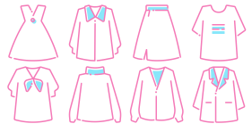 Spring online (clothing series) Icons