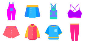 Taiping bird goddess Festival clothing series Icons