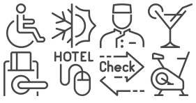 Hotel light Line Icons