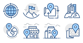 Blue gray solid blend Icon Icons