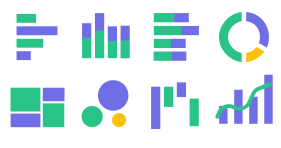 Chart type library Icons