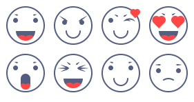 A set of chatting expressions Icons