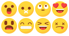 Simple expression bag Icons