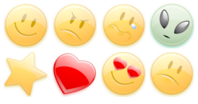 Emotion orange Icons
