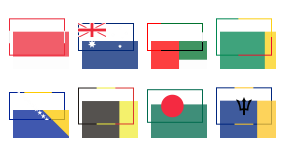 National flag Icons