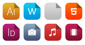 Flat iOS7 Style Documents Icons