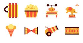 Circus feast Icons