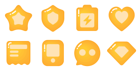 Imitating gradient - Cute social orange Icons