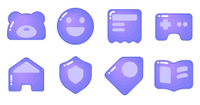 Imitating gradient - lovely social purple Icons
