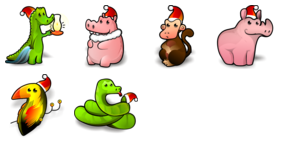 Jungle Bells Icons