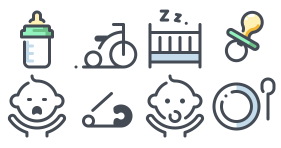 Baby cute linear Icon Icons
