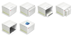 LCD Boxes Icons