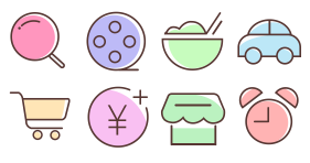 Rest and life Icons