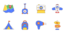 Travel theme Icon Icons