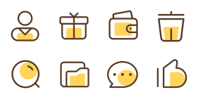 Two color small icon Icons