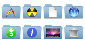 Leopard Folder Replacements Icons